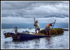 Intha Boatmen, Inle Lake, Burma