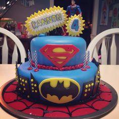 Fondant Birthday Cakes Pinterest | Batman vs Superman Cake