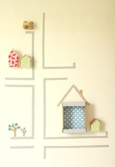 mommo design: WASHI TAPE WALL DECOR