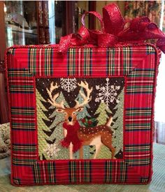 Reindeer needlepoint canvas by Maggie Company http://www.needlepoint-for-fun.com/shop/Kits-/Christmas-Needlepoint-Kits/p/Maggie-NeedlepointBRDeer-and-Berries-sku-M-1601.htm