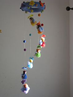 Rainbow fairies needle felted mobile waldorf inspired. $175.00, via Etsy.