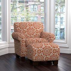 clarke armchair and ottoman
