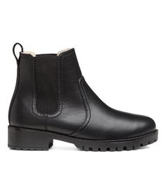 Chelsea boots with warm lining Black | Women | H & M DE