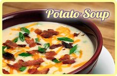 Baked (or Mashed) Potato Soup Recipe--Creamy and Low Fat (I'd replace the sour cream with plain Green yogurt to keep it clean).  Yummy!  :)