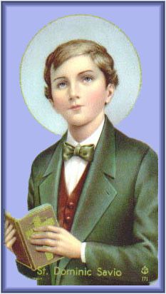 St. Dominic Savio patron saint of juvenile delinquents,choirboys, falsely accused people, Pueri Cantores[4]