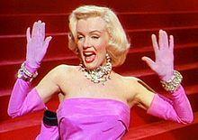 Marilyn Monroe no filme Os Homens Preferem as Loiras