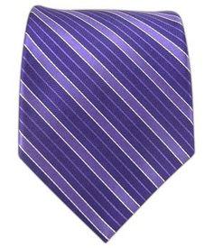 100% Silk Woven Purple Culture Striped Tie: Amazon.com: Clothing