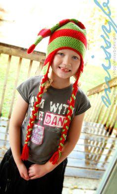 Crochet Hat Pattern  Crochet Christmas Elf Hat  by missybdesigns, $4.50