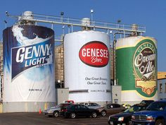 Rochester NY High Falls District the Genesee Brewery. High Falls, Rochester New York, New Amsterdam, Upstate New York, Roadside Attractions, Giza, Live In The Now, Great Lakes, Brewery