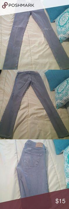 Hollister Denim Pants Gray Hollister Lowrise Skinny Denim Pants Waist 26 Length 31 Size 3R Hollister Pants Skinny