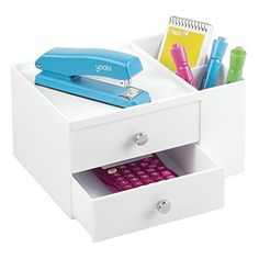 mDesign Storage Drawers with Side Organizer, Stackable for Desks, Shelves, Craft Storage - White MetroDécor http://www.amazon.com/dp/B015JQREJE/ref=cm_sw_r_pi_dp_5qoHwb0W4SSJS