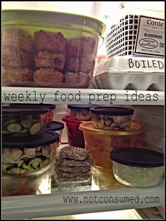 Weekly food prep