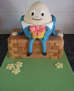 Nursery Rhyme Party, Nursery Rhymes, First Birthday Cakes, 3rd Birthday, Birthday Ideas, Fondant, Birthday Cake Pictures, Egg Cake, Sculpted Cakes