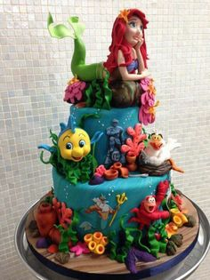 ARIEL CakesDecor Bunk beds Pinterest Ariel Cake and