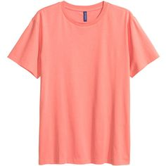 Cotton T-shirt $5.99 ($5.99) ❤ liked on Polyvore featuring tops, t-shirts, cotton crew neck t shirts, crew t shirt, red t shirt, jersey tee and crew neck t shirt