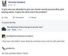 Feminism. Dress codes. Not all men! #NotAllMen. Rape Culture. LGBTQA+