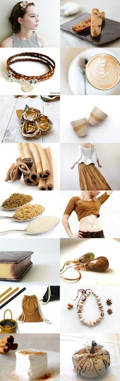 Café Au Lait With Cinnamon by Marukasa on Etsy--Pinned with TreasuryPin.com