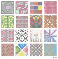 Free Miniature Square Cross Stitch Graphs - Printable Cross Stitch Patterns: Models of the Free Miniature Square Cross Stitch Patterns Cross Stitch Sampler Patterns, Cross Stitch Borders, Cross Stitch Samplers, Cross Stitch Designs, Cross Stitching, Cross Stitch Embroidery, Hand Embroidery, Embroidery Designs, Cross Stitch Bookmarks