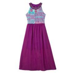 IZ Amy Byer Knit Chiffon Maxi Dress - Girls' 7-16/