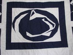 penn quilt nittany lion by jean f by Jennifer Ofenstein (sewhooked.com), via Flickr