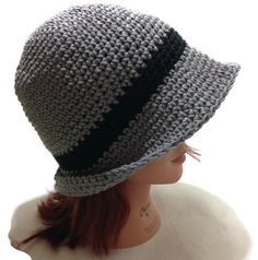 Crochet Fedora Bowler Style Beanie Hat in by AddSomeStitches, $24.00