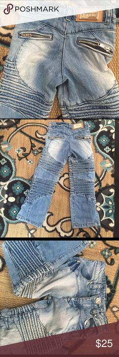 Vintage Boyfriend  Industrial Carpenter Jeans 5T Can't find these jeans anywhere! They must be a Europeon brand-Tidor and the year says 1989. Fashion comes back a full circle and the industrial style is definitely back. Get it for your 5T! I wish these fit my daughter!!!!!! Vintage Bottoms Jeans