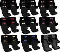CC Jeep Wrangler TJ / YJ Two Tone w Design Front & Rear Seat Covers/Choose COLOR