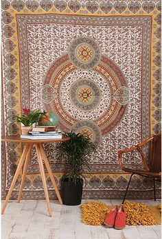 My inner hippie has these in every bedroom and up on large (don't want to paint apartment) walls.