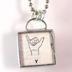 Sign Language Initial Y Pendant $20