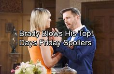 Days of Our Lives Spoilers: Friday, July 14 – Brady Explodes Over Nicole and Eric's Confession – Jade's Final Evil Plot – Celeb Dirty Laundry