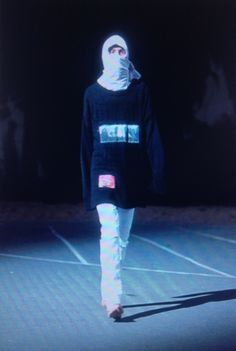 Raf Simons Spring/Summer 2002, 'Woe Onto Those Who Spit On The Fear Generation…The Wind Will Blow It Back'