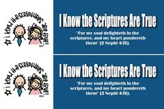2016 Primary Theme and Scripture Bookmark I Know the Scriptures are True