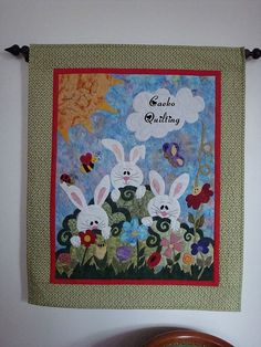Painel de Pascoa. by caeko quilting, via Flickr