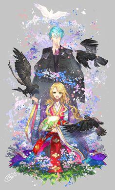 FUJODANSHI FOREVER! — Mystic Messenger Japanese traditional style  Note...