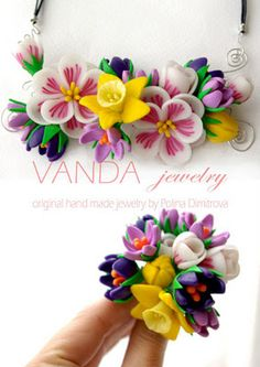 pretty polymer clay flowers