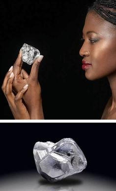 Massive Uncut 478-Carat Diamond | A massive 478-carat diamond was found at the Letseng Mine in Lesotho, a small kingdom in South Africa. It is the 20th largest rough diamond ever found, and it came from a mine that has already delivered three of the world's largest diamonds: the 603-carat Lesotho Promise, the 493-carat Leteng Legacy and the 601-carat Lesotho Brown. A similar but smaller-sized rough stone has recently been valued at $12 million.