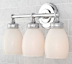 Pottery Barn Bathroom Sconce Lighting Bathroom Lightning - Triple sconce bathroom lighting