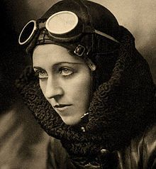 Amy Johnson portrait.jpgAmy Johnson, CBE (1 July 1903 – 5 January 1941) was a pioneering English aviator and was the first female pilot to fly alone from Britain to Australia. Flying solo or with her husband, Jim Mollison, she set numerous long-distance records during the 1930s. She flew in the Second World War as a part of the Air Transport Auxiliary and died during a ferry flight.