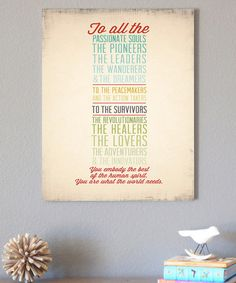 'What the World Needs' Print on #zulily! #zulilyfinds