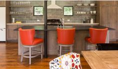 Whitewashed Oak Cabinets w Gray Stain; Houzz 10/05/2014