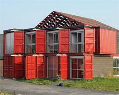patrick partouche: maison container lillegreat pictures of the build and plans