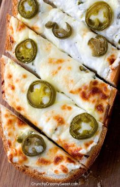 Game Day Appetizers: Jalapeno Popper Cheese Garlic Bread