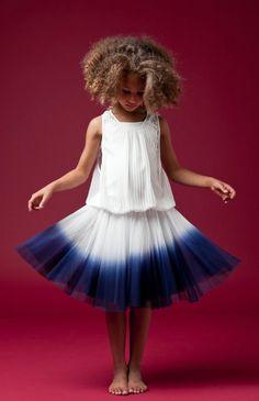 Junior Gaultier dipped dip dye skirt.
