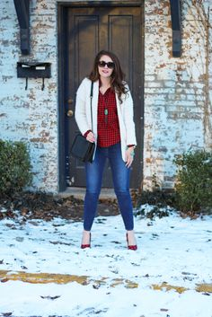 Bright on a Budget: Casual + Cozy Valentine's Day Outfit