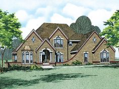 Traditional House Plan Front of Home 026D-0179  from houseplansandmore.com