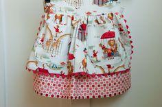 Sewing Pattern: Girls Apron Dirndl Skirt with Multiple Options (PDF. epattern). $6.00, via Etsy.