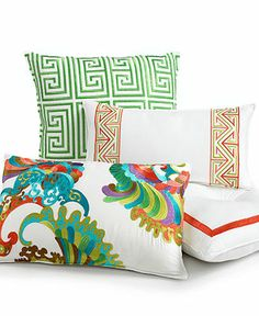 "Trina Turk Bedding, 20"" x 10"" Embroidered Decorative Pillow - Bedding Collections - Bed & Bath - Macy's"