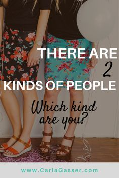 """THERE ARE TWO KINDS OF PEOPLE A friend once told me there are basically two kinds of people. The """"Here I am!"""" kind and the """"There you are!"""" kind. Which one are you? Answer some simple questions at today's Mindful Monday post and find out!"""