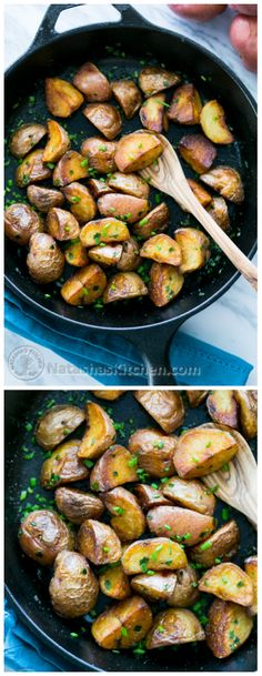 Simple and Crisp Sautéed Baby Red potatoes. @natashaskitchen