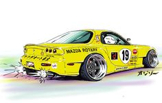 "car illustration original cartoon ""mame mame rock"" / (c)..."